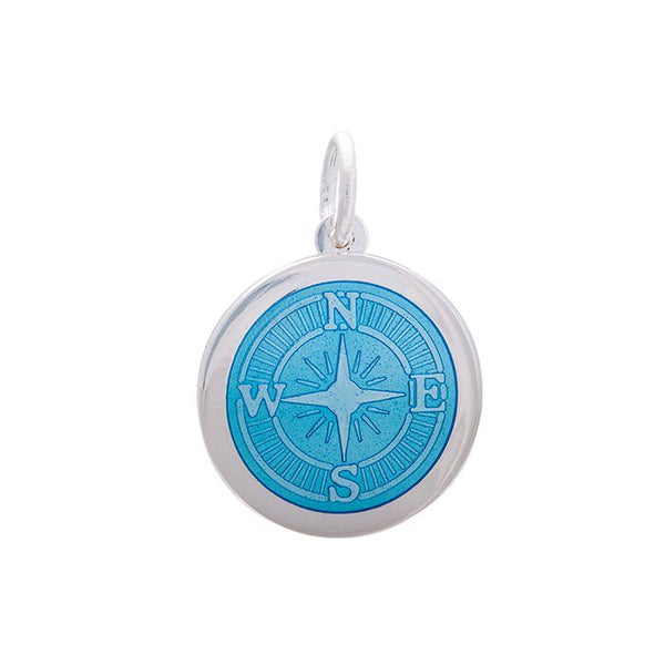 Compass Rose Pendant - Light Blue Enamel