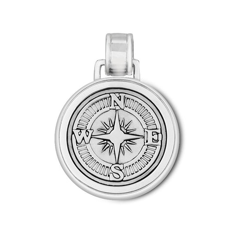 LOLA compass rose pendant oxidized silver center, 925 sterling silver compass rose pendant, silver Large compass rose Nantucket Provincetown Jewelry
