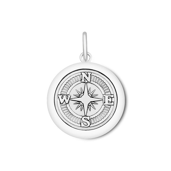 LOLA compass rose pendant oxidized silver center, 925 sterling silver compass rose pendant, silver Medium compass rose Nantucket Provincetown Jewelry