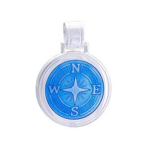 LOLA Compass Rose pendant with a periwinkle enamel center, 925 sterling silver compass rose pendant, Large nautical compass rose provincetown nantucket jewelry