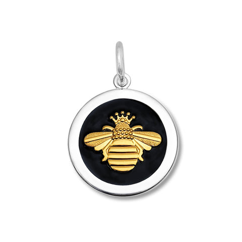 lola queen bee black enamel vermeil gold medium