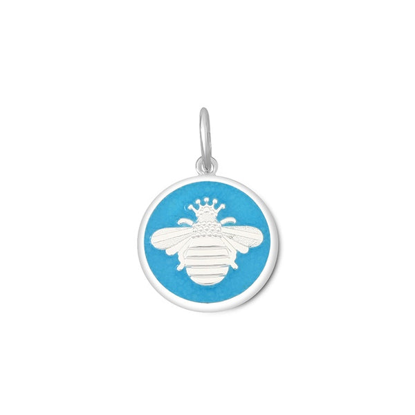 lola queen bee pendant turquoise silver small