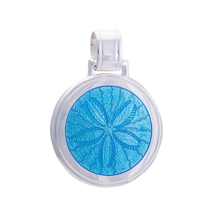 lola sand dollar pendant light blue large