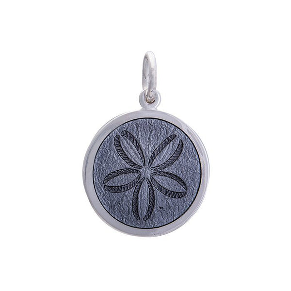 lola sand dollar pendant pewter medium