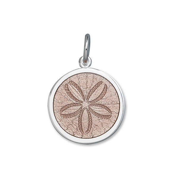 lola sand dollar pendant pink medium