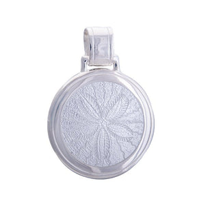 lola sand dollar pendant alpine white large
