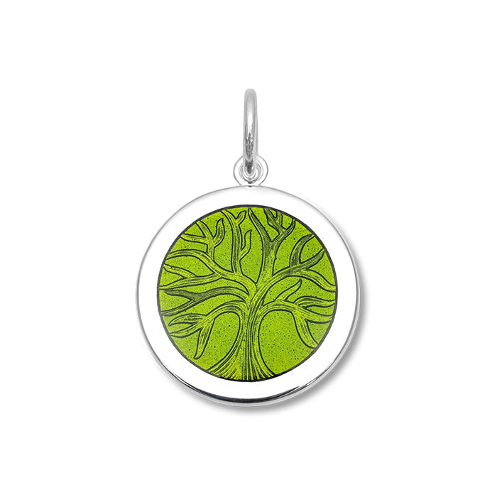 lola tree of life pendant green leaf medium