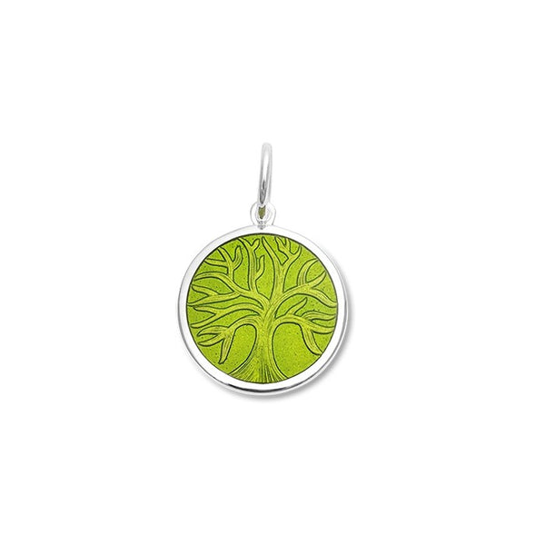 lola tree of life pendant green leaf small