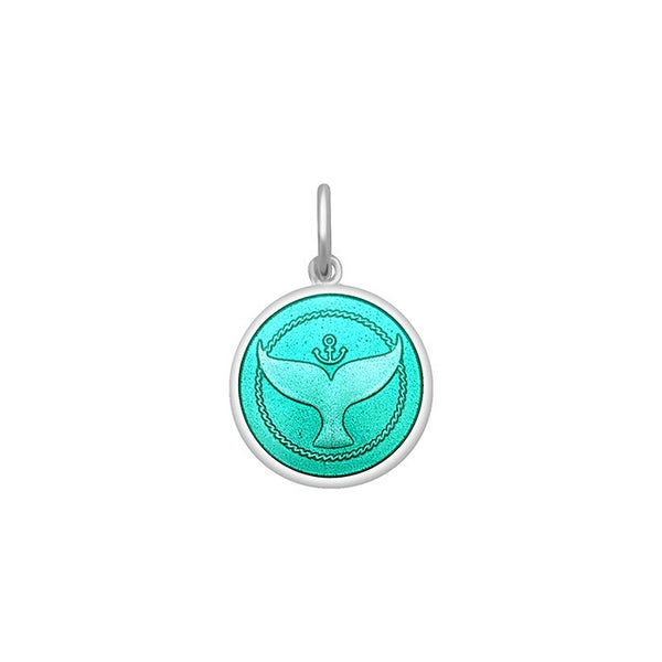 lola whale tail seafoam pendant mini cape cod nautical pendant