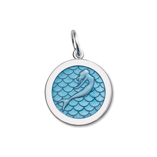 lola mermaid pendant blue sea enamel medium