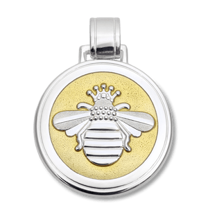 Lola queen bee gold enamel silver bee large