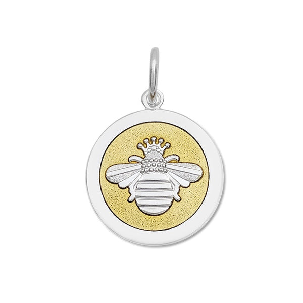 lola queen bee gold enamel silver bee medium