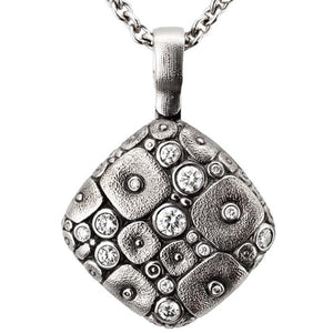 M-46PD soft mosaic pendant necklace platinum diamonds alex sepkus