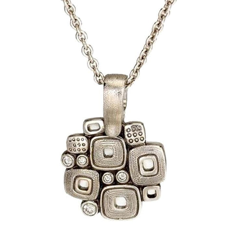 M-59P Little Windows pendant necklace alex sepkus platinum pendant with diamonds