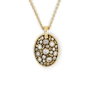 M-74D alex sepkus necklace 18k yellow gold diamond
