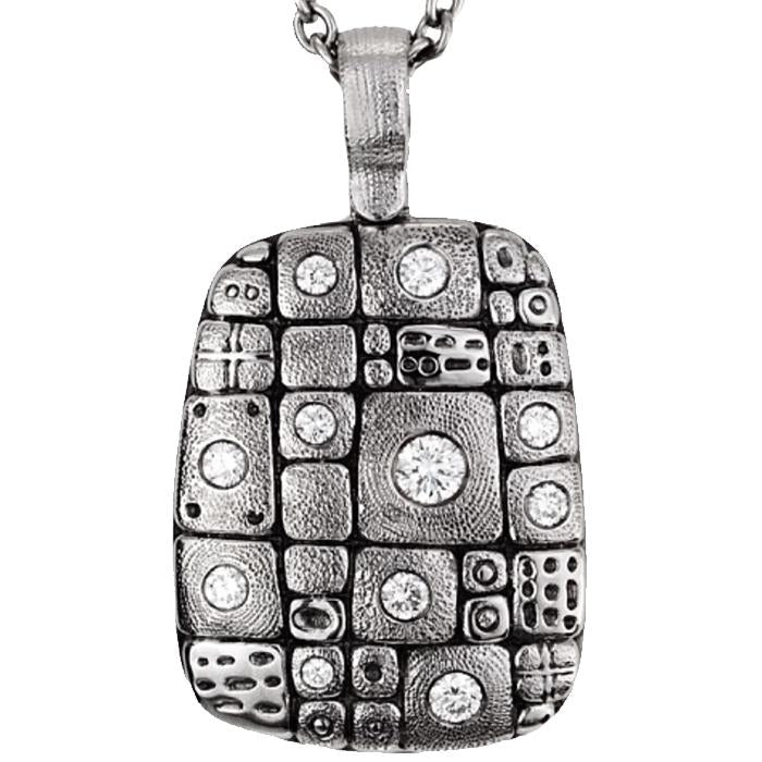 M-74 Pendant nekclae alex Sepkus Old Pathway pendant in platinum with diamonds
