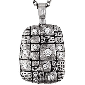 M-74 Pendant nekclae alex Sepkus Pathway pendant in platinum with diamonds