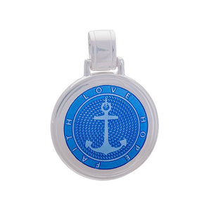 LOLA anchor pendant periwinkle Large nautical anchor pendant nantucket jewelry provincetown cape cod