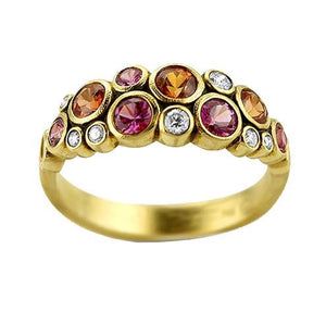 r-113s orange pink sapphire mix alex sepkus dome ring