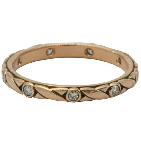 R-121R alex sepkus criss cross band rose gold
