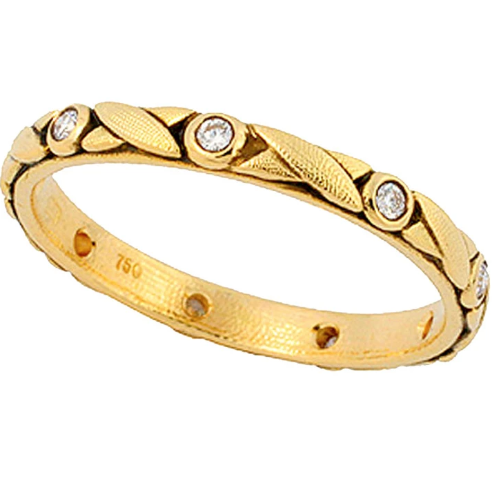 r-121D alex sepkus crisscross band 18k yellow gold diamonds