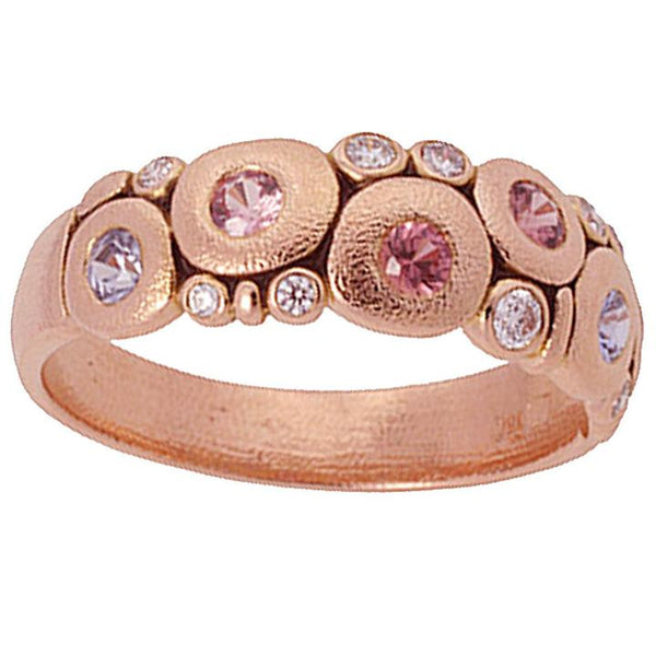 Candy Dome Ring - 18k Rose Gold/Pink Sapphires R-122RS