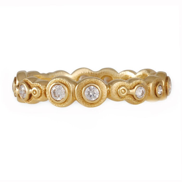 r170d alex sepkus submarine band 18k gold diamond eternity ring michael's jewelry cape cod jeweler provincetown