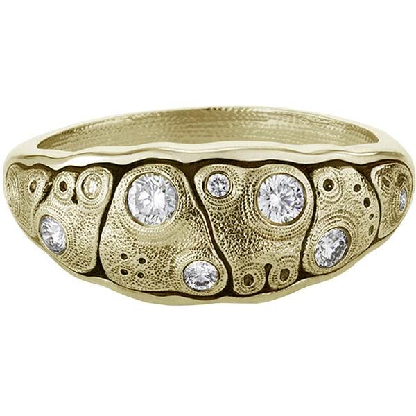 Anna Dome Ring - 18k Gold/Diamonds R-203D