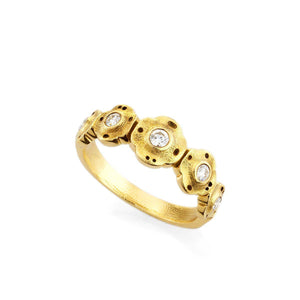 R-207D alex sepkus flora ring 18k yellow gold diamonds