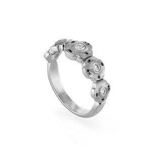 R-207P Alex Sepkus Flora ring platinum and diamonds