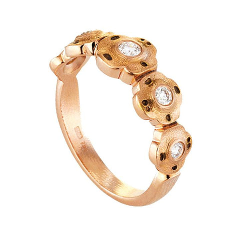 R-207R alex sepkus flora ring 18k rose gold diamonds