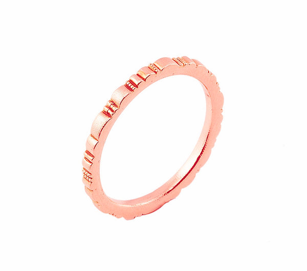 r-213r ridges band alex sepkus 18k rose gold unisex ring