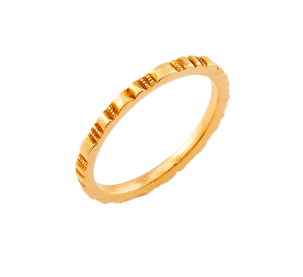R-213 ridges unisex band alex sepkus ring 18k yellow gold