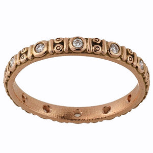 R-73R Circle band alex sepkus 18k rose gold diamonds