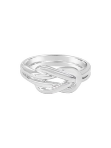 Sailors Knot Ring - Solid Silver