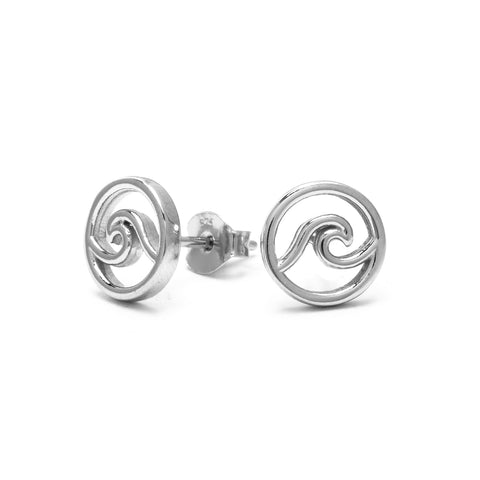 cape cod wave stud earrings made of 925 sterling silver