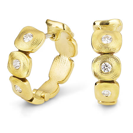 alex sepkus earrings dancing squares 18k yellow gold diamond fashion jewelry e232