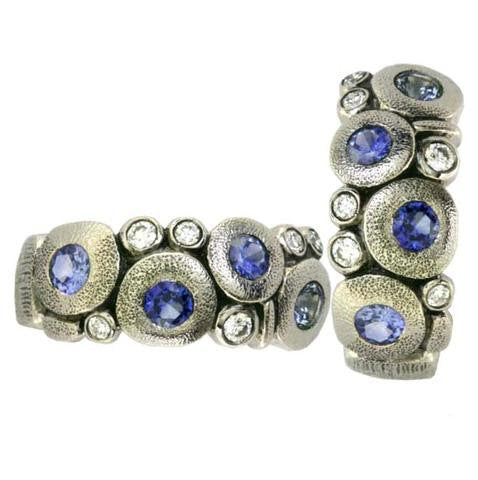 platinum sapphire alex sepkus candy earring e122 fashion jewelry