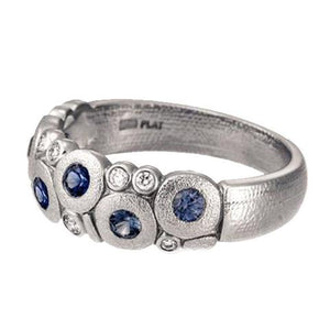 R-122ps alex sepkus candy dome ring platinum sapphire women's band