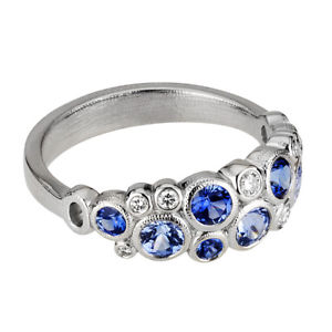 alex sepkus platinum diamond sapphire dome band