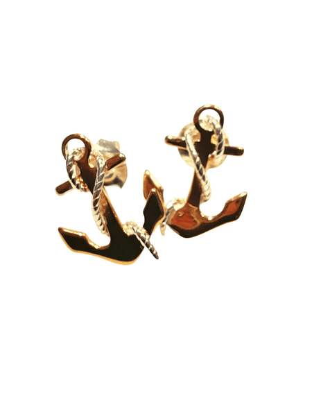 anchor studs 925 sterling silver gold-filled