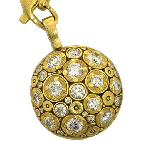 blooming hill alex sepkus pendant m-49 18k yellow gold diamond necklace