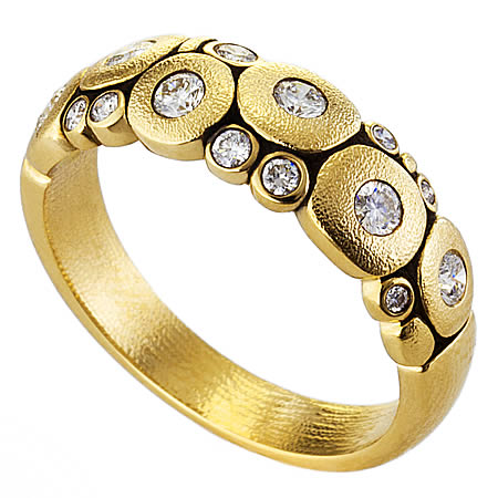 r-122D candy dome ring diamond 18k yellow gold alex sepkus candy ring