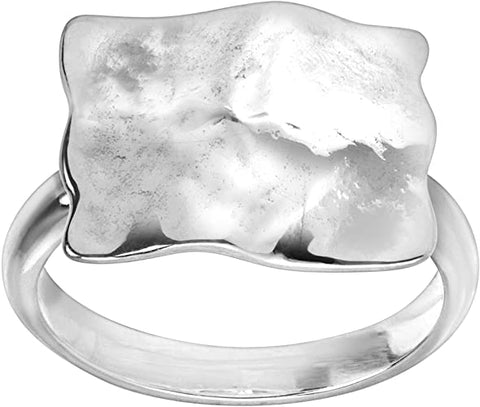 cape cod square root ring sterling silver minimalist ring