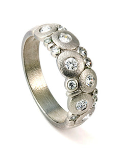 r-122P alex sepkus platinum candy dome ring diamonds handmade fine jewelry