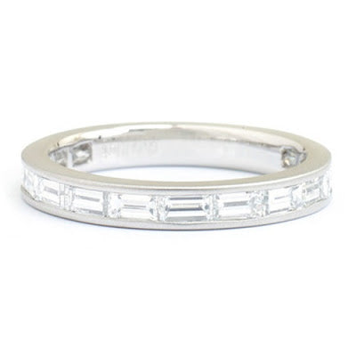 eternity band 14k gold baguette diamond channel set ring michael's jewelry cape cod jeweler provincetown
