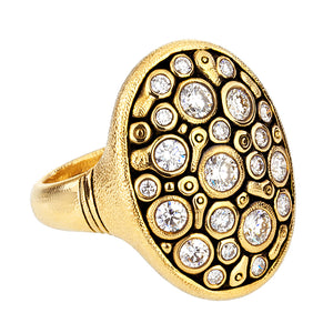 18k yellow gold diamond alex sepkus dome ring constellation r141d