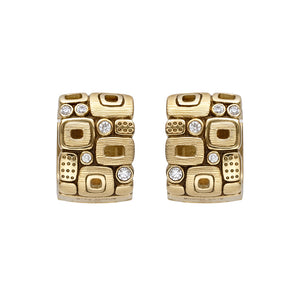 Little Windows Huggie Earrings E-83