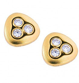Swirling Water Earrings - 18k Gold/Diamond E-75d