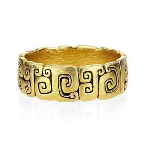 r94 j garden alex sepkus 18k yellow gold mens band